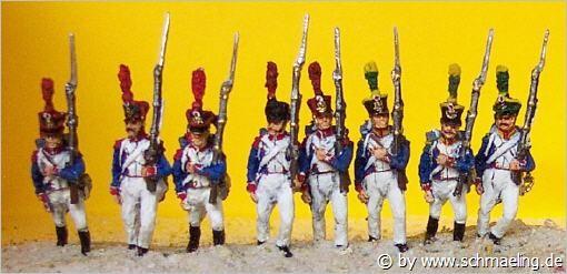 Französische Grenadiere (Voltigeure) der Linie (1812 - 1815)
