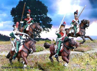 1811 - 1815: Französische Linien-Lanciers - Elitekompanie (im Angriff)