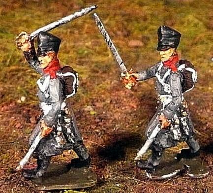 Preußische Offiziere im Mantel (1813 - 1815)