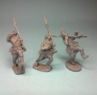 1740 - 1763: Preußische Infanterie - Soldaten (fallend)