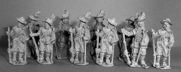 Musketiere (mit Schlapphüten)