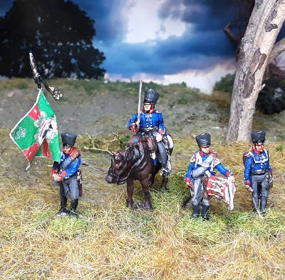 1813 - 1815: Preußische Musketiere - Command Set (Bausatz)