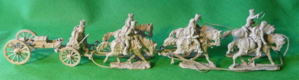 Preußische Fußartillerie auf trabenden Pferden (1813 - 1815)