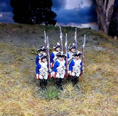 1740 - 1763: Preußische Musketiere (abwartend)