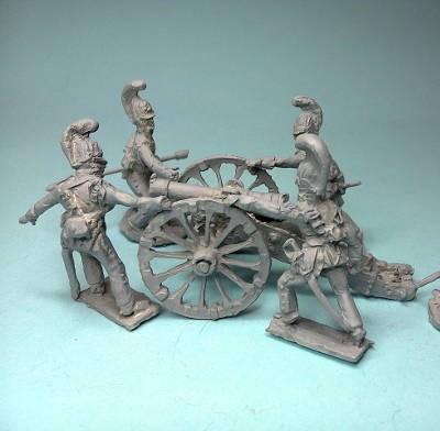 1805 - 1807: Russische reitende Garde (Geschütz in Stellung bringend)