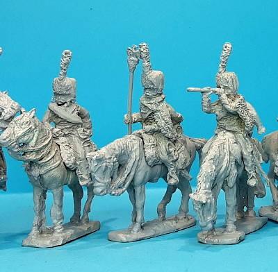 1805 - 1815: Französische Husaren zu Pferd (mit Kolpak)