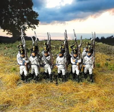 1813 - 1815: Deutsch-Österreichische Linieninfanterie - Füsiliere