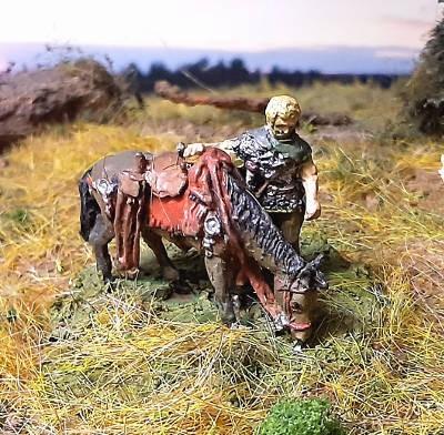 Römischer Auxiliar-Legionär (beim Tränken seines Pferdes)