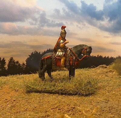 Römischer Tribun zu Pferd (2 AD)