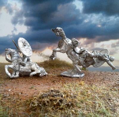 1 - 2 AD: Römische Auxiliar-Kavalleristen (stürzend)