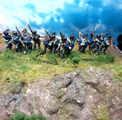 1813 - 1815: Preußische Linieninfanterie im Nahkampf (15 mm)