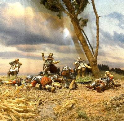 2 AD: Römische tote und verwundete Legionäre