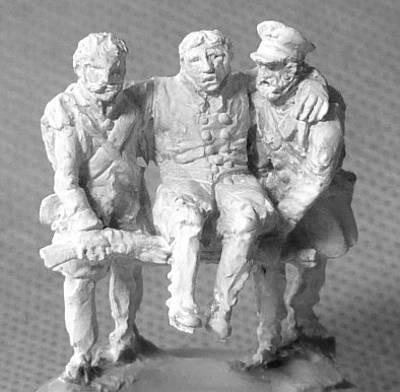 1813 - 1815: Preußische Landwehr - verwundeter Soldaten (1/72)