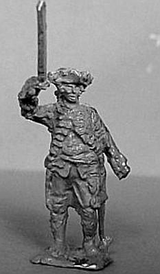 1740 - 1763: Preußischer Offizier (den Feuerbefehl gebend)