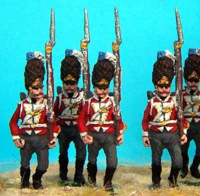 1812 - 1814: Dänische Linieninfanterie - Grenadiere (marschierend)
