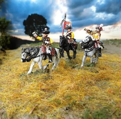 1756 - 1763: Preußische Kürassiere - Command Set (trabend)