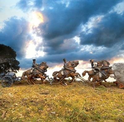 1813 - 1815: Preußische Train-Soldaten der reitenden Artillerie (1/72)