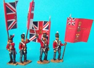 Britische Fahnenträger der Garde (1814 _ 1815)