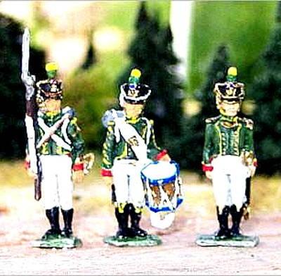Französische Junge Garde - Flanqueur-Chasseurs - Command Set
