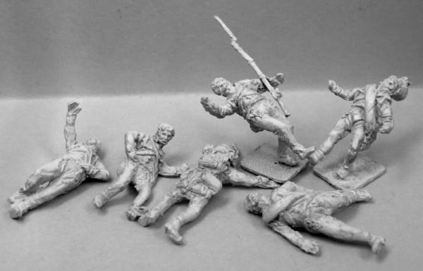 Österreichische-Ungarische Infanterie - Tote und Verwundete