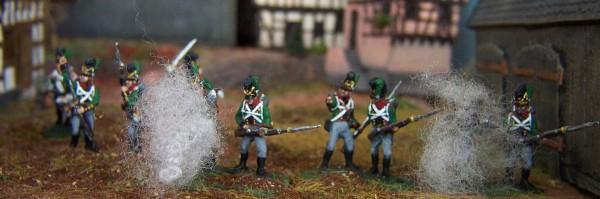 Bayerische Infanterie plänkelnd (1808 - 1815)