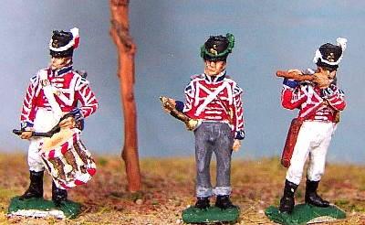 1814 - 1815: Britische Garde - Trommler, Hornist und Pfeiffer