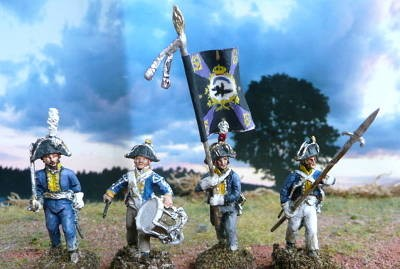 1806:: Preußen - Musketiere - Command Set (28 mm)