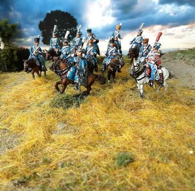 1810 - 1813: Sächsische Husaren (zu Pferd, abwartend)