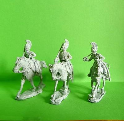 1812 - 1815: Russische Dragoner auf trabenden Pferden
