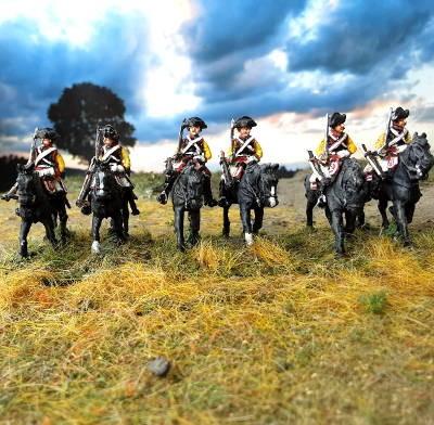 1740 - 1763: Preußische Kürassiere - Mannschaften