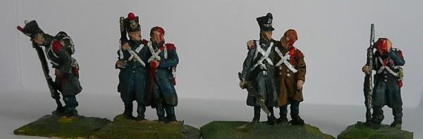 Französische Linieninfanterie - verwundete Soldaten (1808 - 1815)