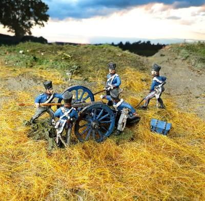 1813 - 1815: Preußische reitende Artillerie - Kanonenbedienung