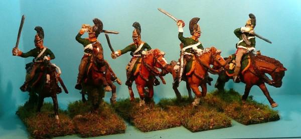 Russische Dragoner - Mannschaften im Galopp (1813 - 1815)
