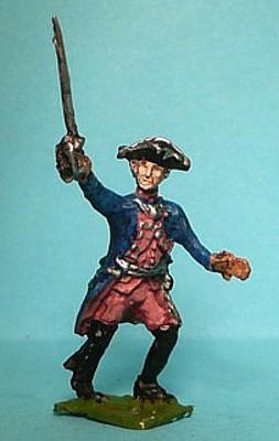 Preußischer Offizier vorgehend (1740 - 1763)