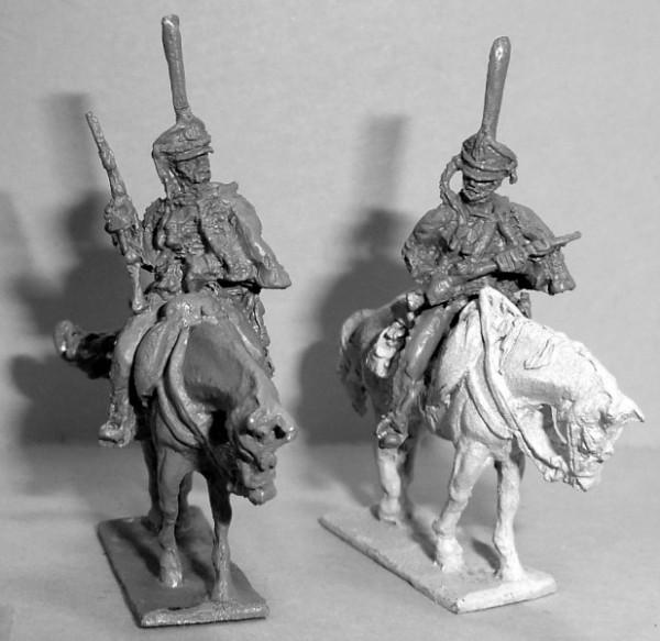 Russische Husaren, den Karabiner haltend (1812 - 1815)