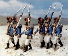 Bayerische Infanterie marschierend (1808 - 1815)