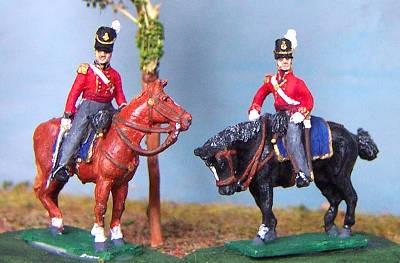 1814 - 1815: Britische Infanterie - Offiziere (zu Pferd)